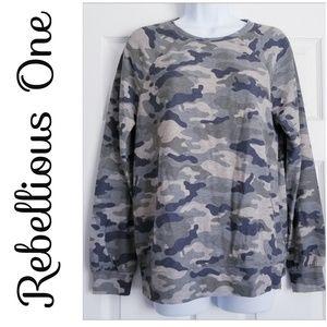 Rebellious One, Medium, New, Camouflage Sweatshirt